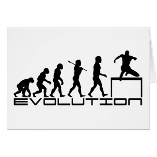 Hurdle Track and Field Sport Evolution Art Greeting Card