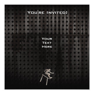 "Hurdler; Cool 5.25"" Square Invitation Card"