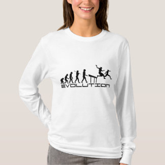 Hurdles Hurdler Sport Evolution Art T-Shirt
