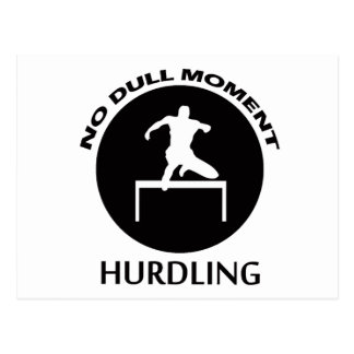 hurdling designs postcard