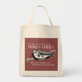 Hurdy-Gurdy dark grocery bag