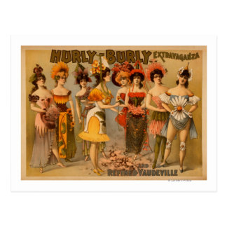 Hurly-Burly Extravaganza and Refined Vaudeville Postcard