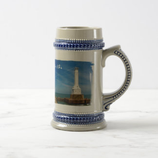 Huron lighthouse beer stein