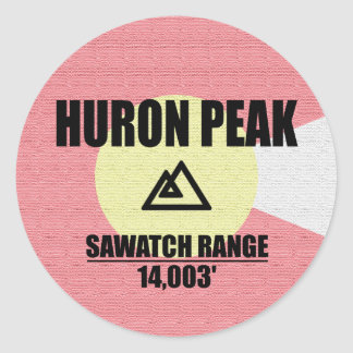 Huron Peak Classic Round Sticker