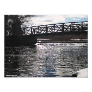 Huron River Bridge Photo Print