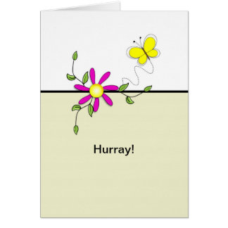 Hurray-Last Round of Chemo-Butterfly Flower Card