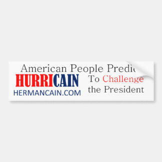 hurricain Challenge BS Bumper Sticker