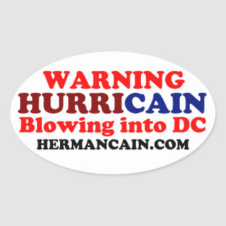Hurricain Oval Oval Sticker