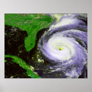 Hurrican Fran Off Florida - 1996 Satellite Image Poster
