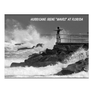 "Hurrican Irene ""waves"" at Florida postcard"