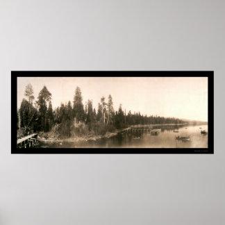 Hurricane Bay Tahoe Photo 1908 Poster