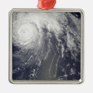 Hurricane Bill off Bermuda Silver-Colored Square Ornament