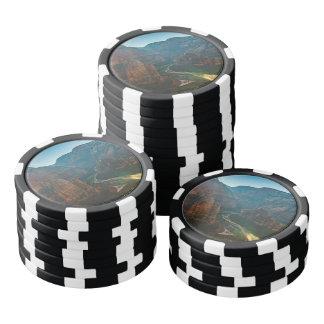 Hurricane canyon in Utah USA Poker Chips