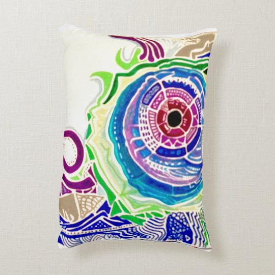 Hurricane Chameleon Decorative Pillow
