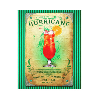 Hurricane Cocktail Canvas Print