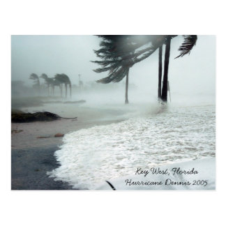 Hurricane Dennis 2005 Key West Florida Postcard