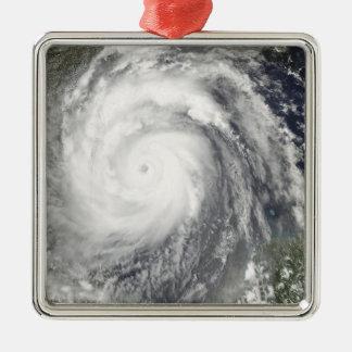 Hurricane Emily Silver-Colored Square Ornament