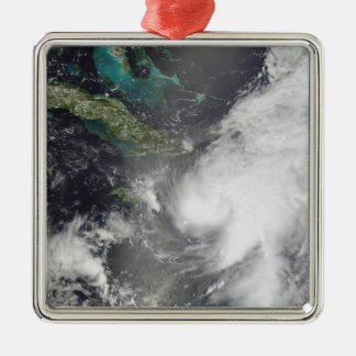 Hurricane Ernesto Silver-Colored Square Ornament