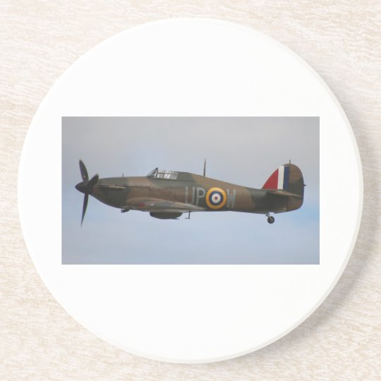 Hurricane Fighter aircraft WWII military plane Coaster