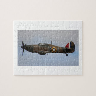 Hurricane Fighter aircraft WWII military plane Jigsaw Puzzle
