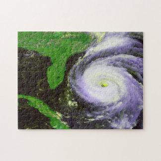 Hurricane Fran Off Florida - 1996 Satellite Image Jigsaw Puzzle