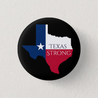 Hurricane Harvey Texas Strong State Flag Button