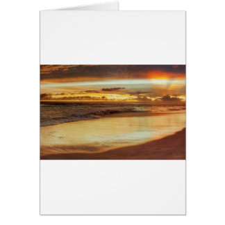 Hurricane Hermine Sunset Card