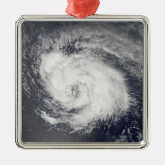 Hurricane Ike 3 Silver-Colored Square Ornament