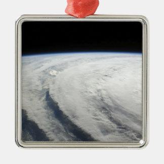Hurricane Ike 7 Silver-Colored Square Ornament