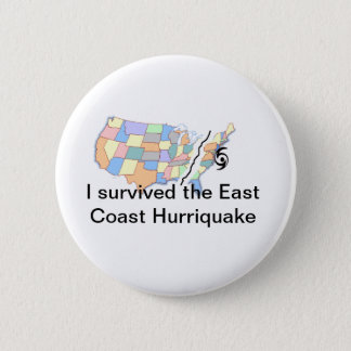 Hurricane Irene 2 Inch Round Button