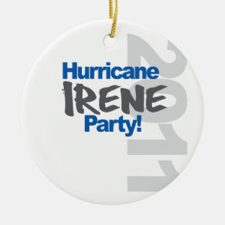 Hurricane Irene Party 2011 Ceramic Ornament