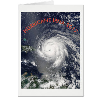 HURRICANE IRMA 2017 NOTE CARD