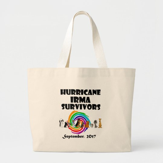 Hurricane Irma Dog Survivors 2017 Art Large Tote Bag