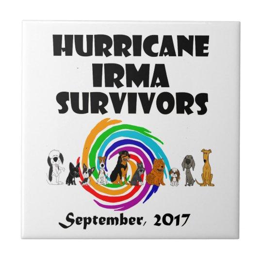 Hurricane Irma Dog Survivors 2017 Art Tile