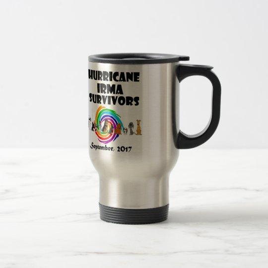 Hurricane Irma Dog Survivors 2017 Art Travel Mug