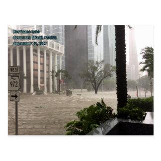 Hurricane Irma downtown Miami Postcard