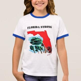 Hurricane Irma Florida Strong Ringer T-Shirt