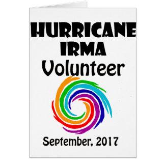 Hurricane Irma Volunteer 2017 Artwork Card