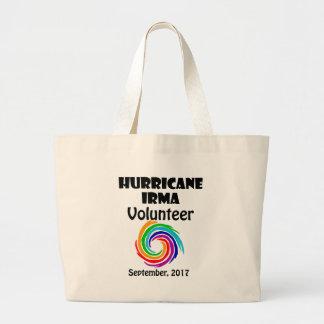 Hurricane Irma Volunteer 2017 Artwork Large Tote Bag