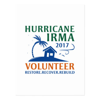 Hurricane Irma Volunteer Postcard