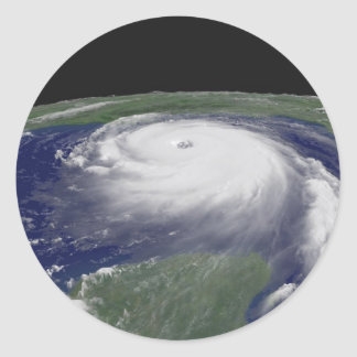Hurricane Katrina Satellite image Round Sticker