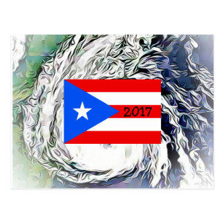 Hurricane Maria Puerto Rico Flag Postcard