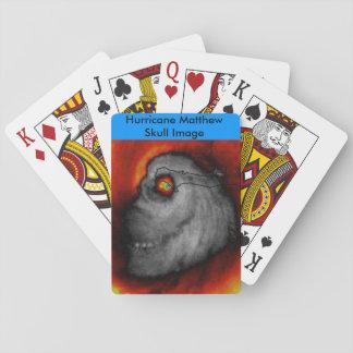 Hurricane Mathew Skull Image Playing Cards