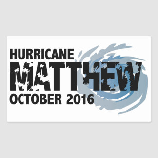 Hurricane Matthew October 2016 Sticker