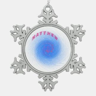 Hurricane Matthew Snowflake Pewter Christmas Ornament
