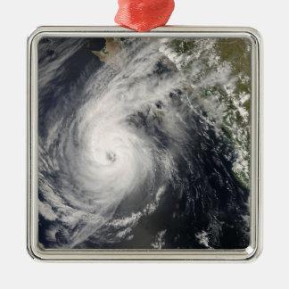 Hurricane Norbert off Mexico 2 Silver-Colored Square Ornament