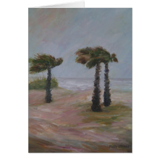 HURRICANE PALMS Greeting Card