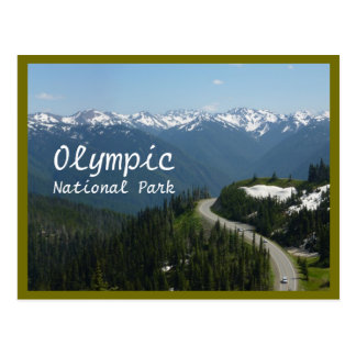 Hurricane Ridge (Olympic N.P.) with text Postcard