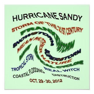 Hurricane Sandy Words Card