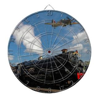 Hurricanes and steam train dartboard